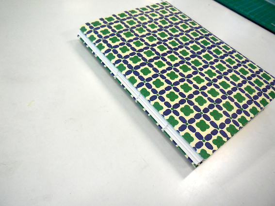 Japanese multi-section binding with Italian pattern print cover